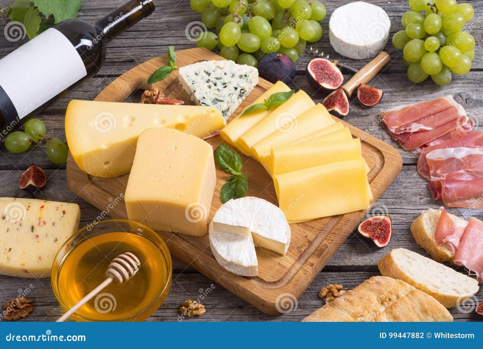 Olik kind för ost