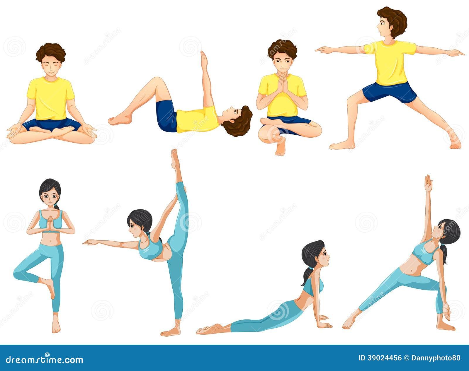 Olik yoga poserar