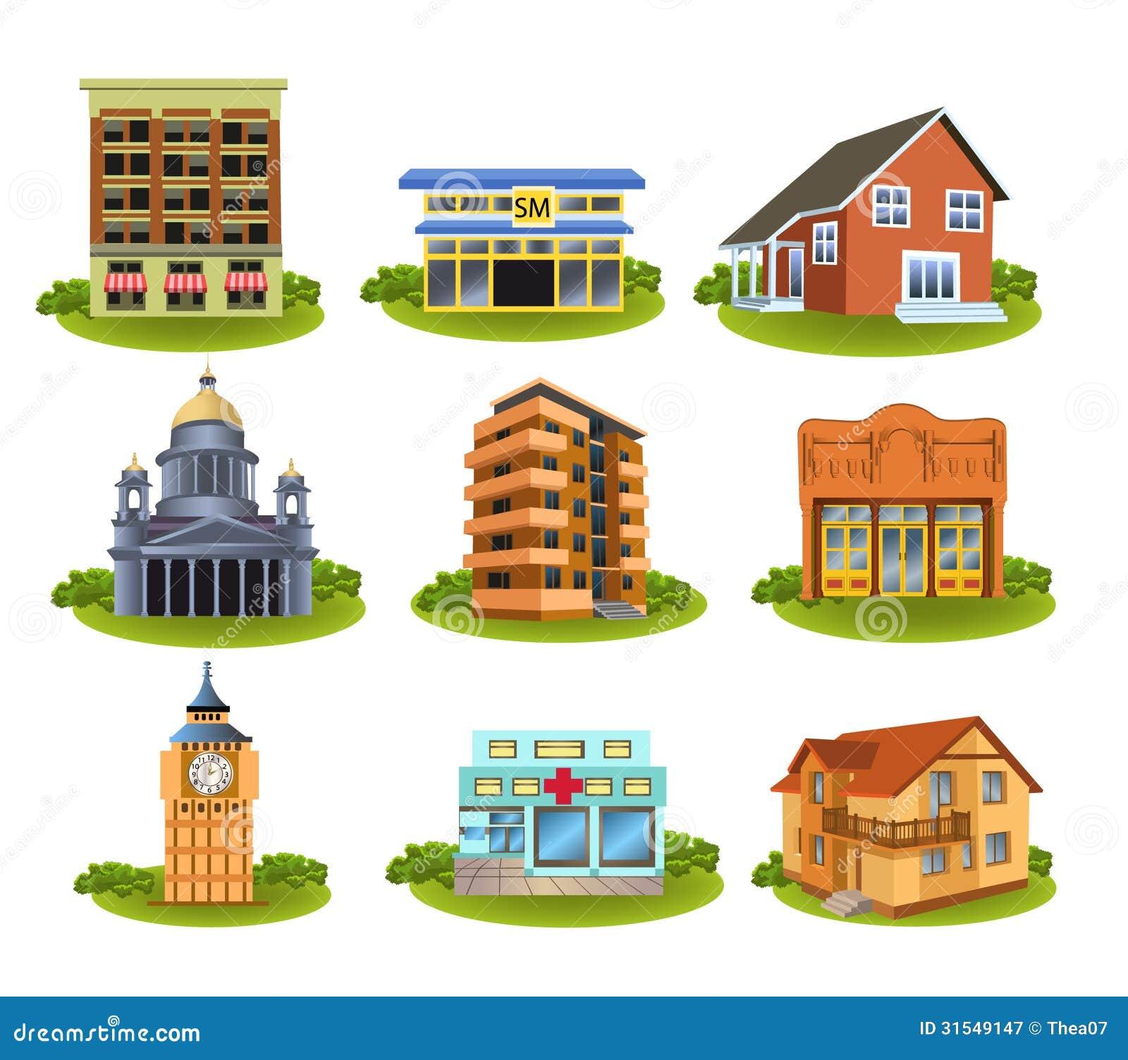 Olika byggnader och st llen royaltyfri fotografi bild 31549147 - Types de maisons dans le monde ...