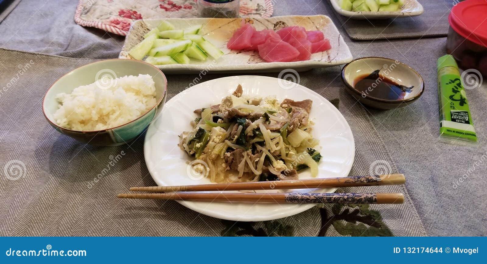 Olika japanska Foods