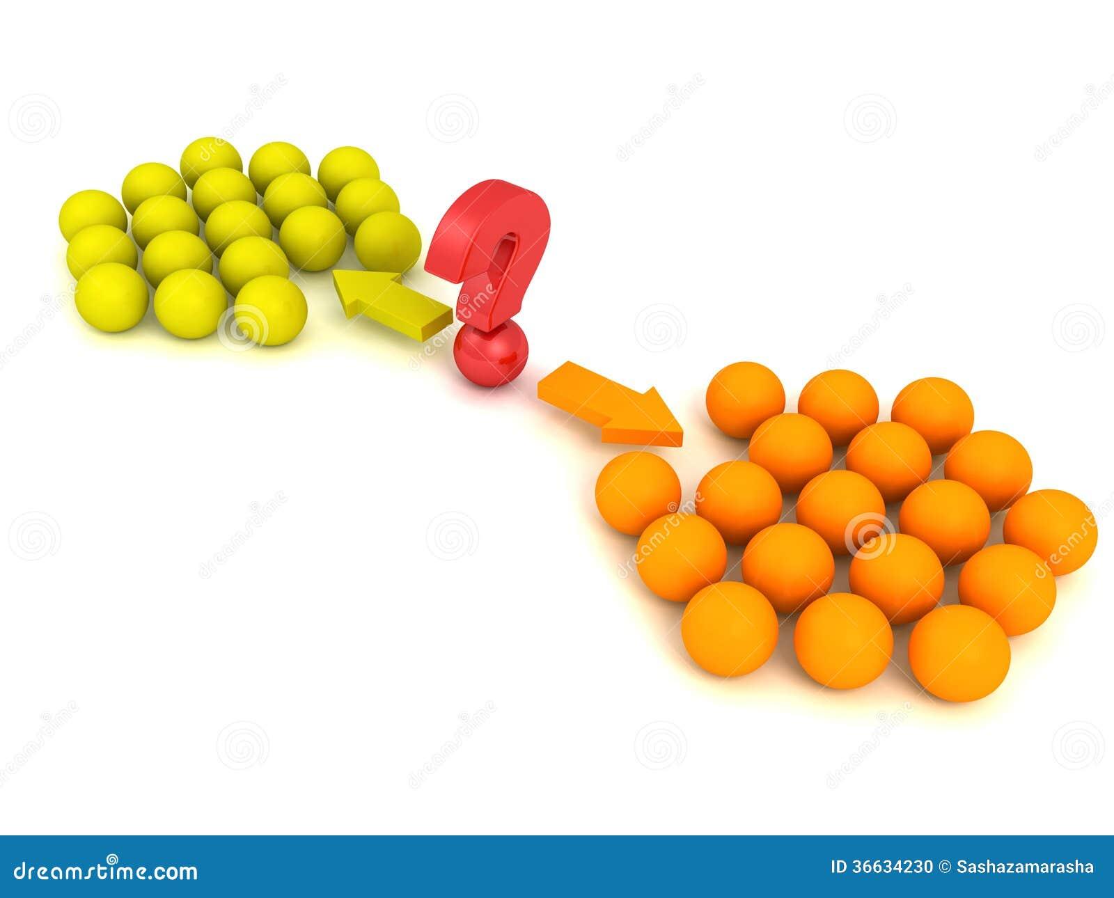 Olika röda grupper för lag för begrepp för bollval två