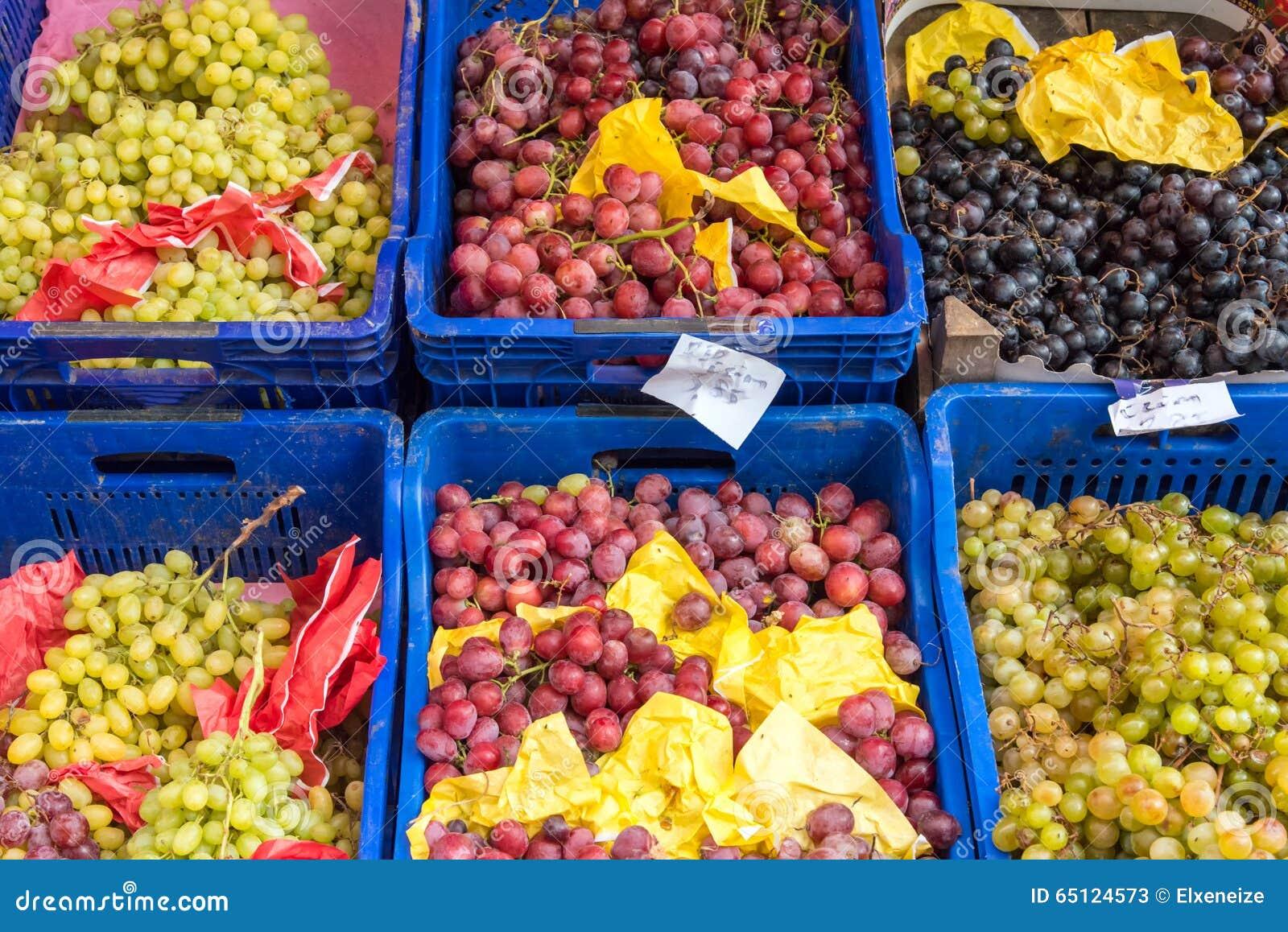 Olika sorter av druvor
