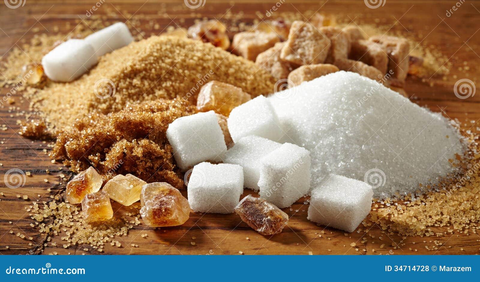 Olika typer av socker