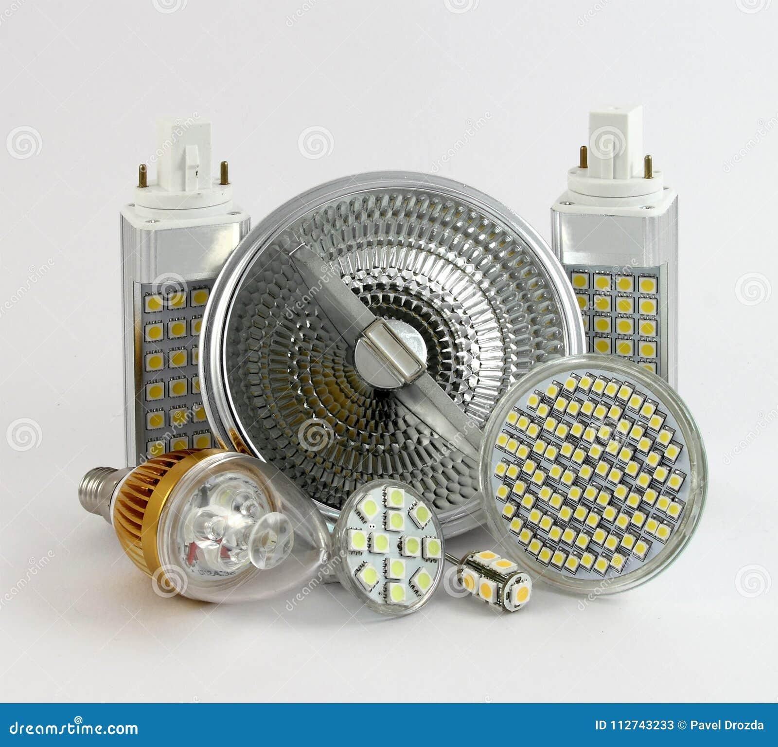 Olika versioner av LED lampor