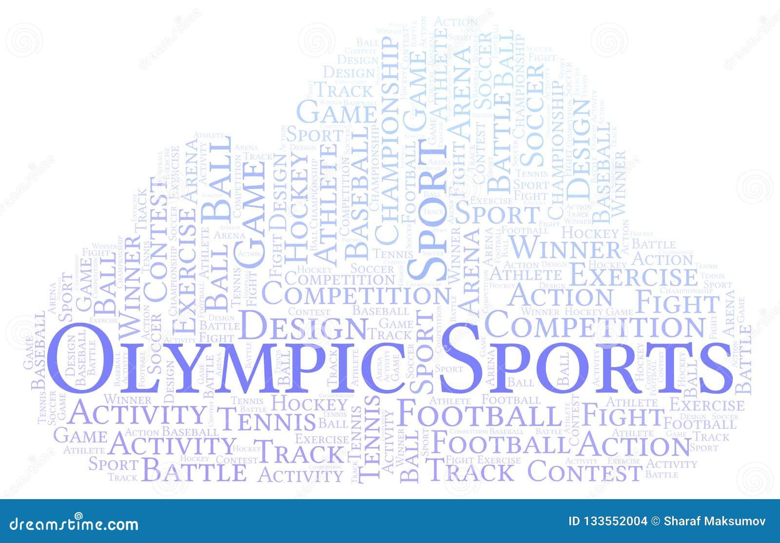 Olimpijska sporta słowa chmura
