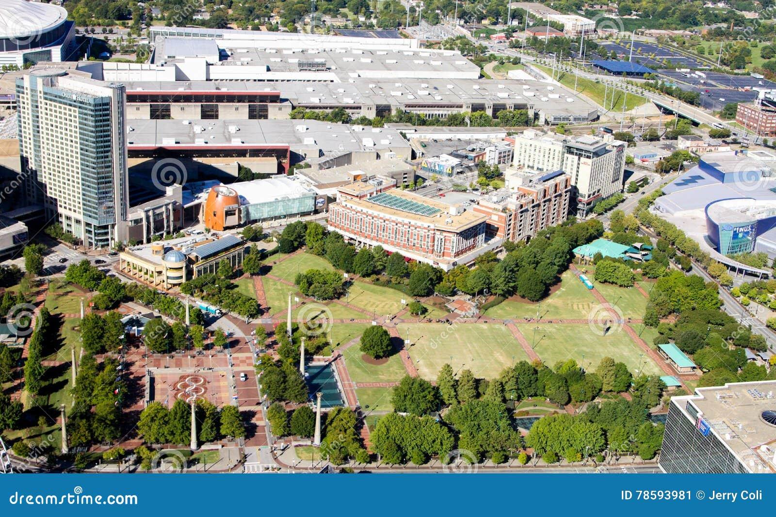 Olimpijski Centennial park, W centrum Atlanta, dziąsła