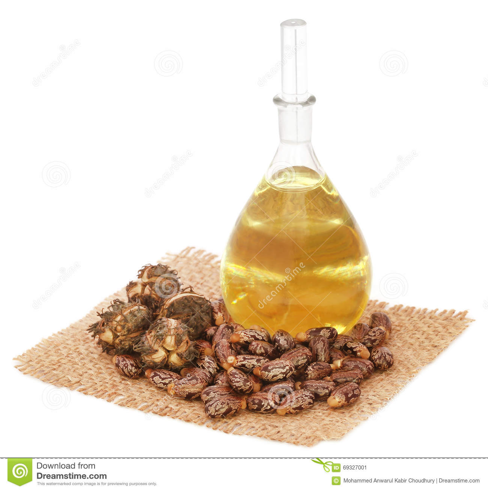 Olio di ricino con i fagioli