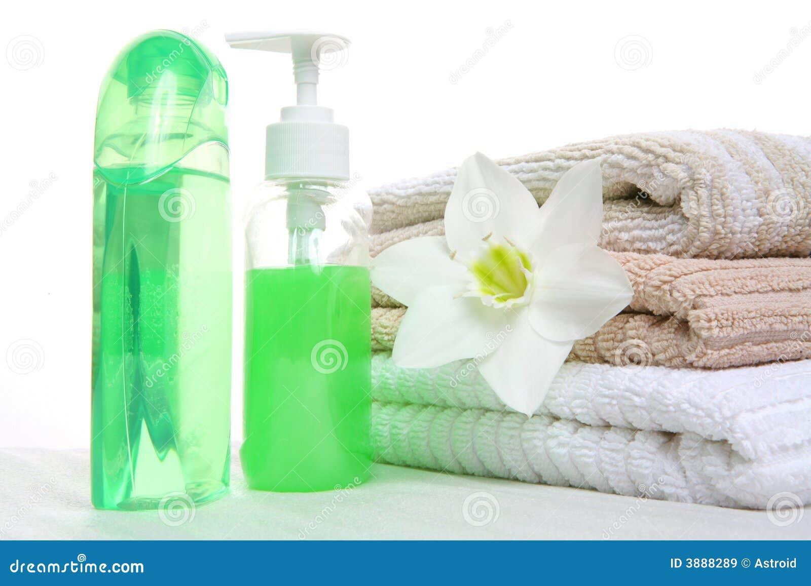 Olio, sciampo e tovagliolo aromatici