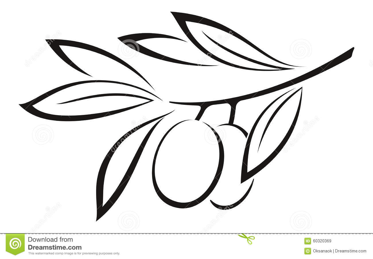 Olive Clip Art Black And White olive branch with berries black icon ...