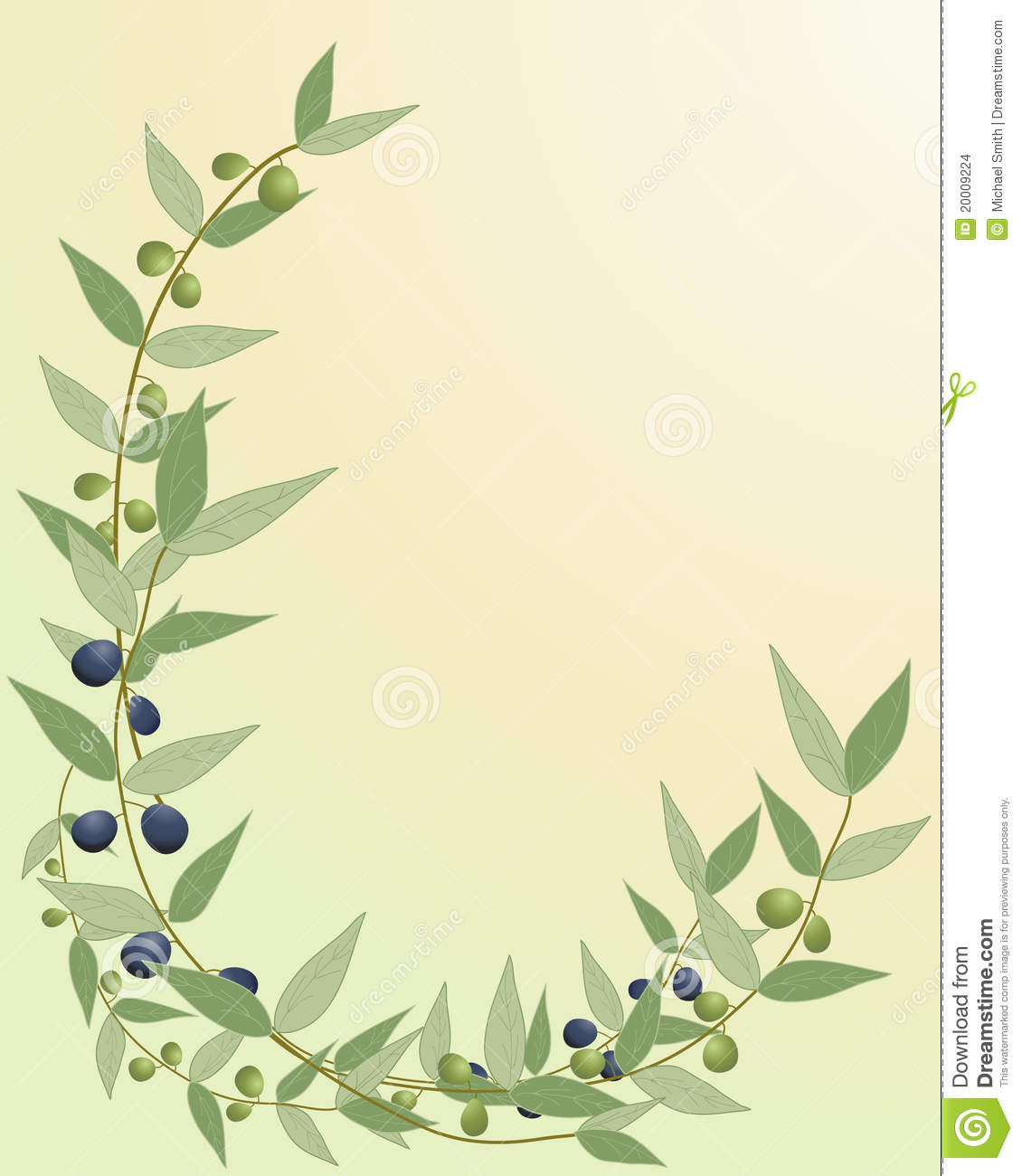 olive branch border stock vector image of branch diet
