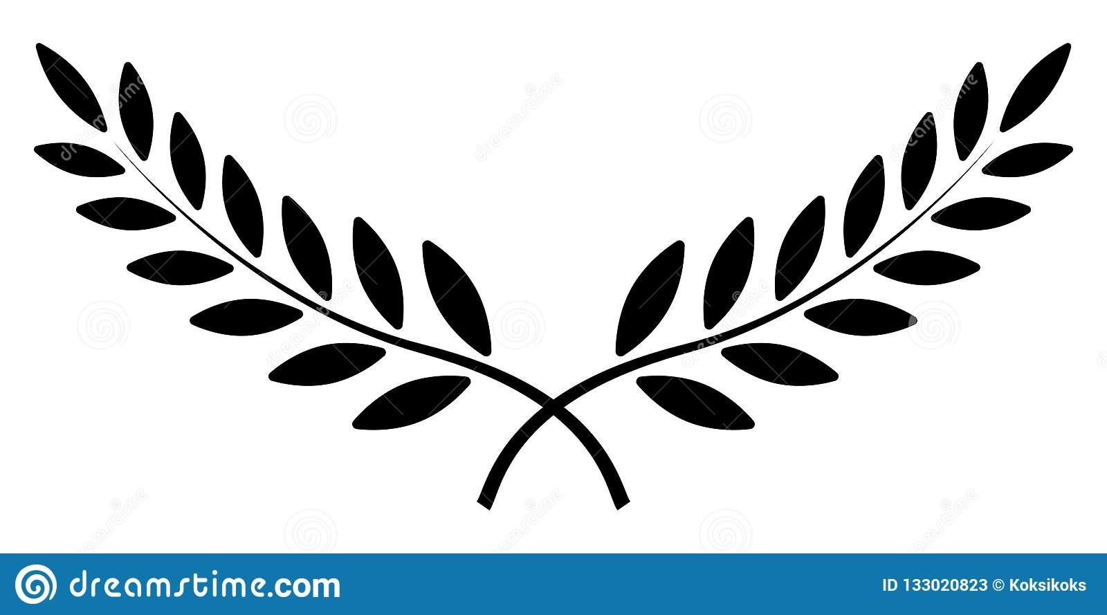 Olive Branch Laurel Wreath Vector Winner Award Symbol Sign Of Victory And Wealth In The Roman Empire