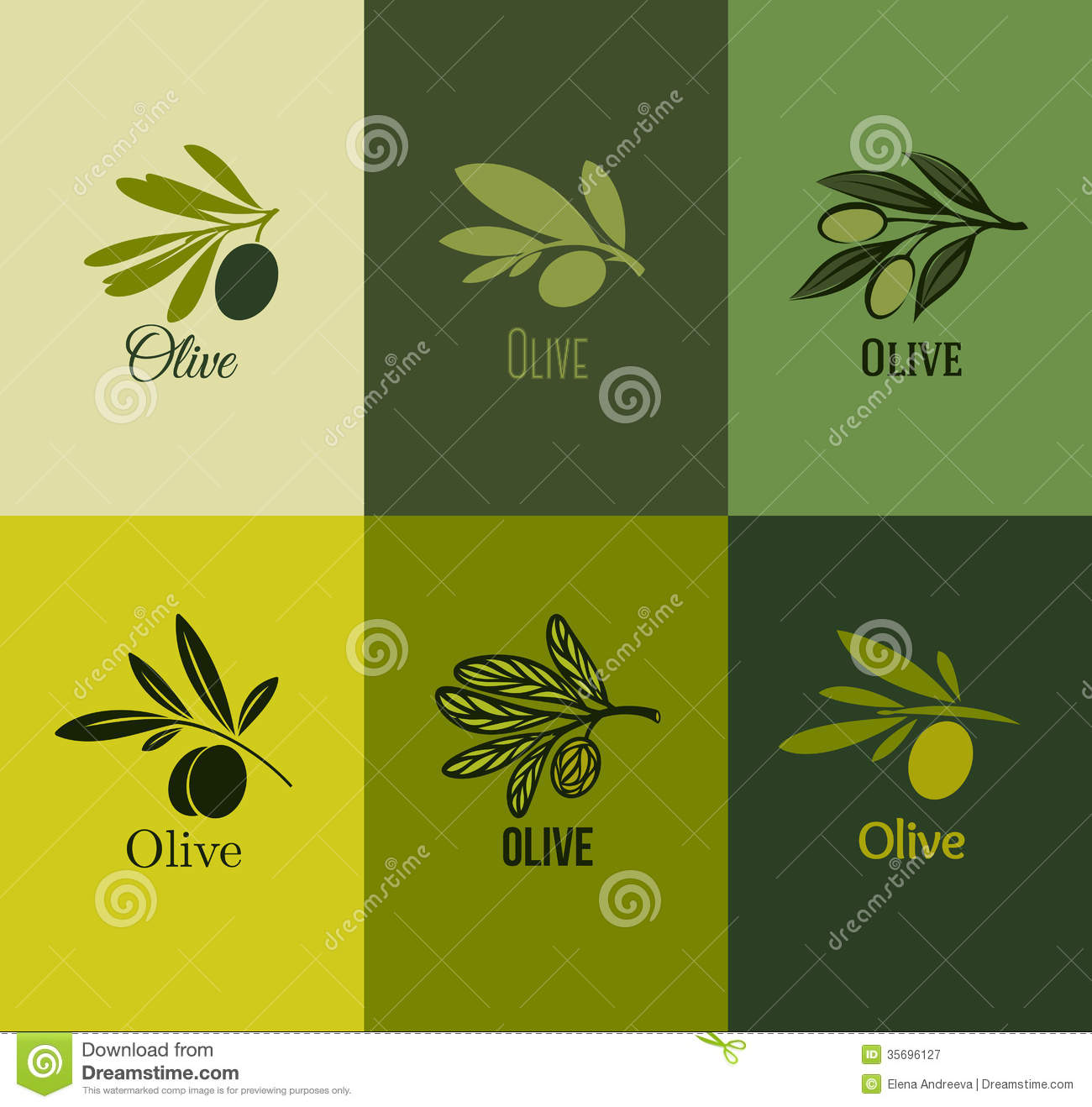 Olive Branch. Set Of Labels. Vector Illustration Royalty Free Stock ...