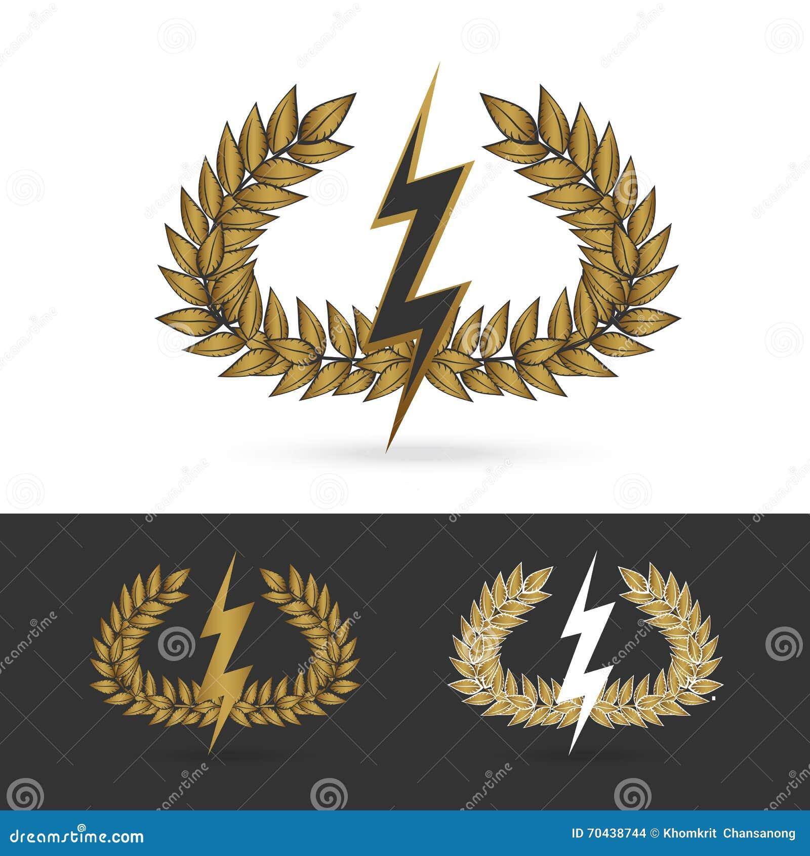 Greek god poseidon stock illustrations 149 greek god poseidon olive branch with thunder symbol of greek god zeus isolate olive branch with thunder symbol biocorpaavc