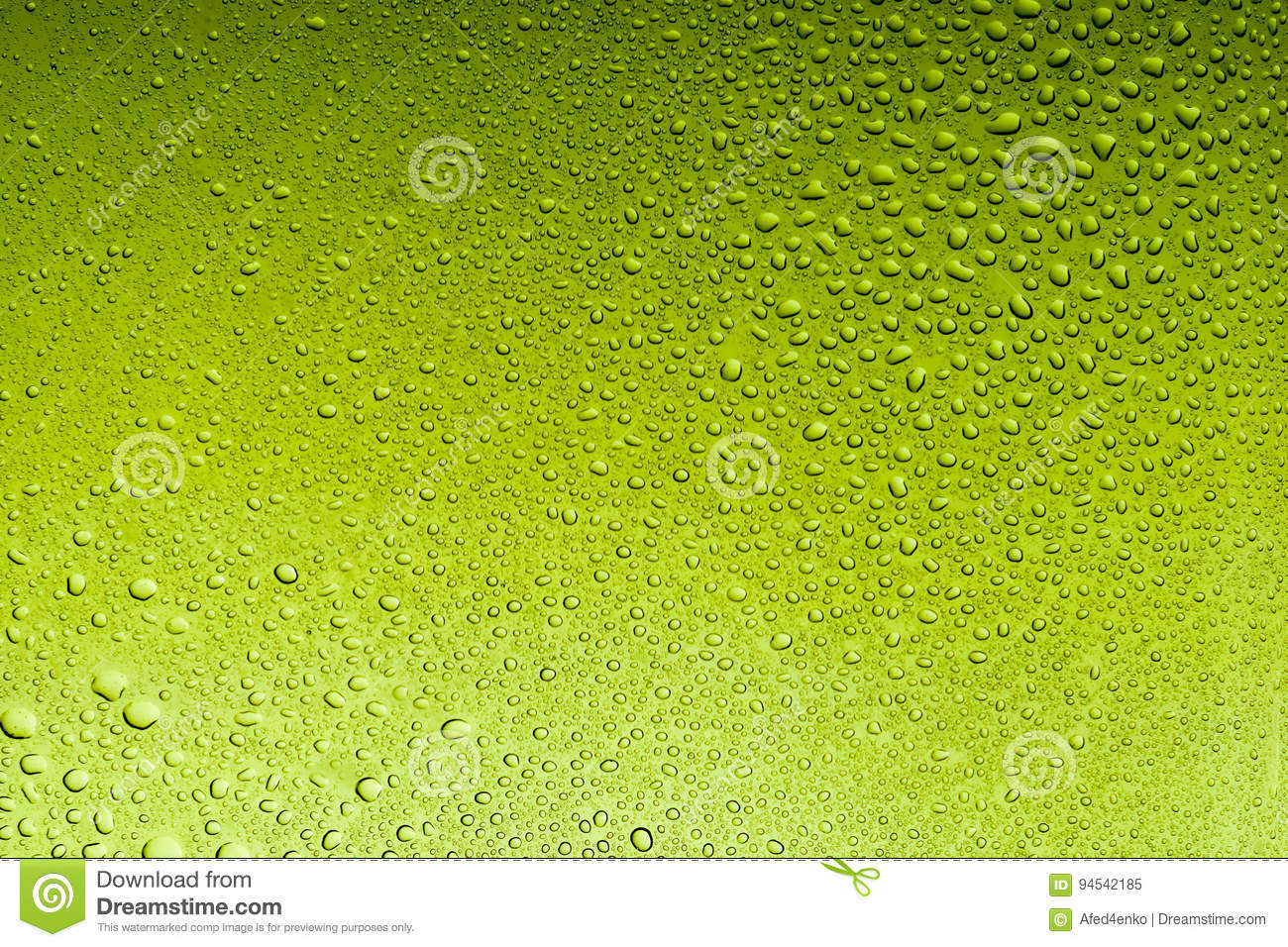 Olive drab water drops abstract background