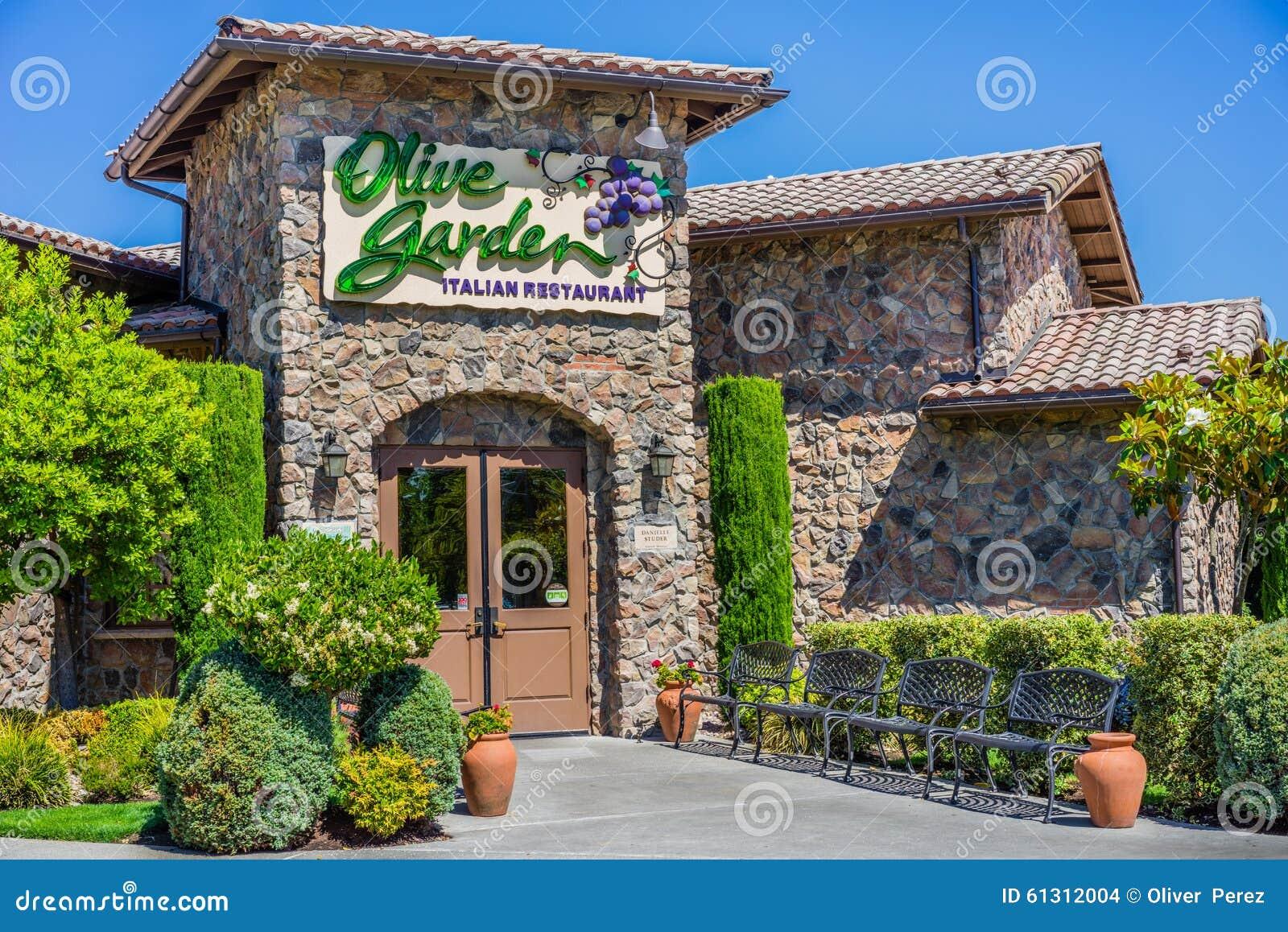 Olive Garden Restaurant Redactionele Stock Afbeelding Afbeelding Bestaande Uit Olijf 61312004