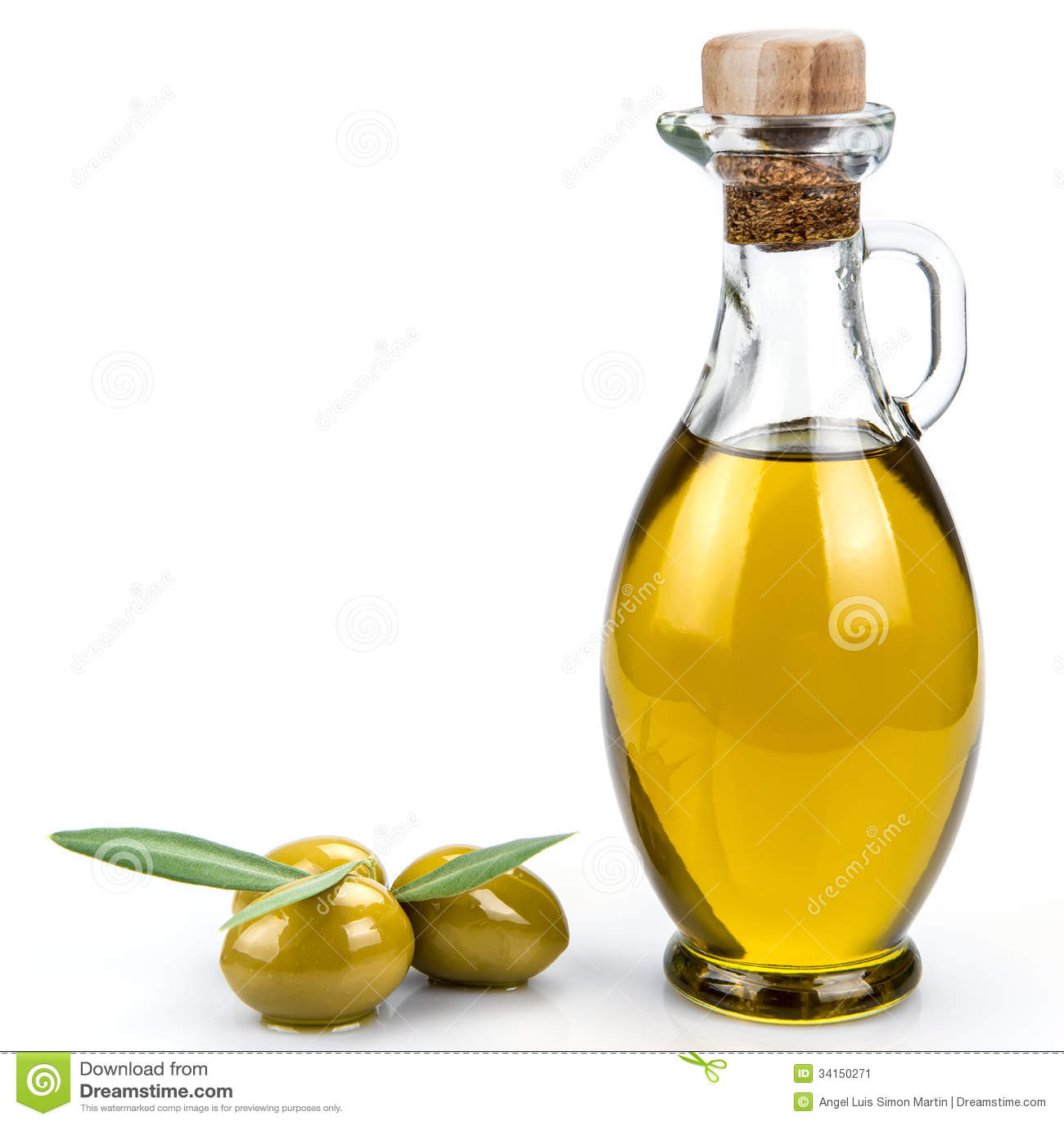 Olive Oil Bottle On A White Background Stock Image Image