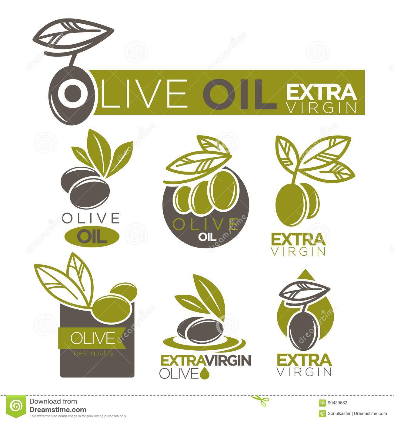 olive oil extra virgin product vector label templates stock vector