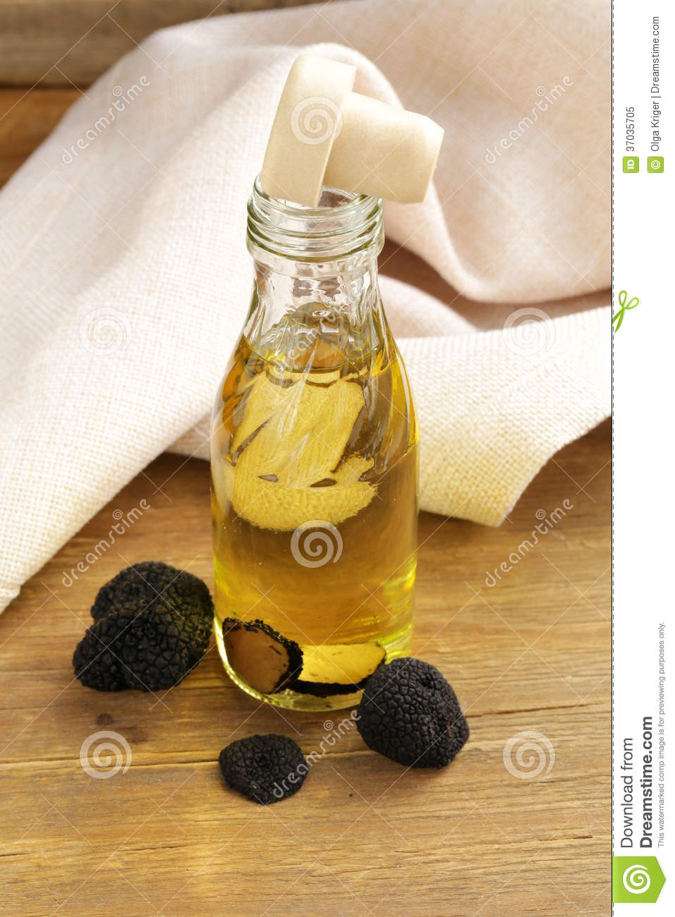 Download Olive Oil Flavored With Black Truffle Stock Image - Image of delicious, ingredient: 37035705