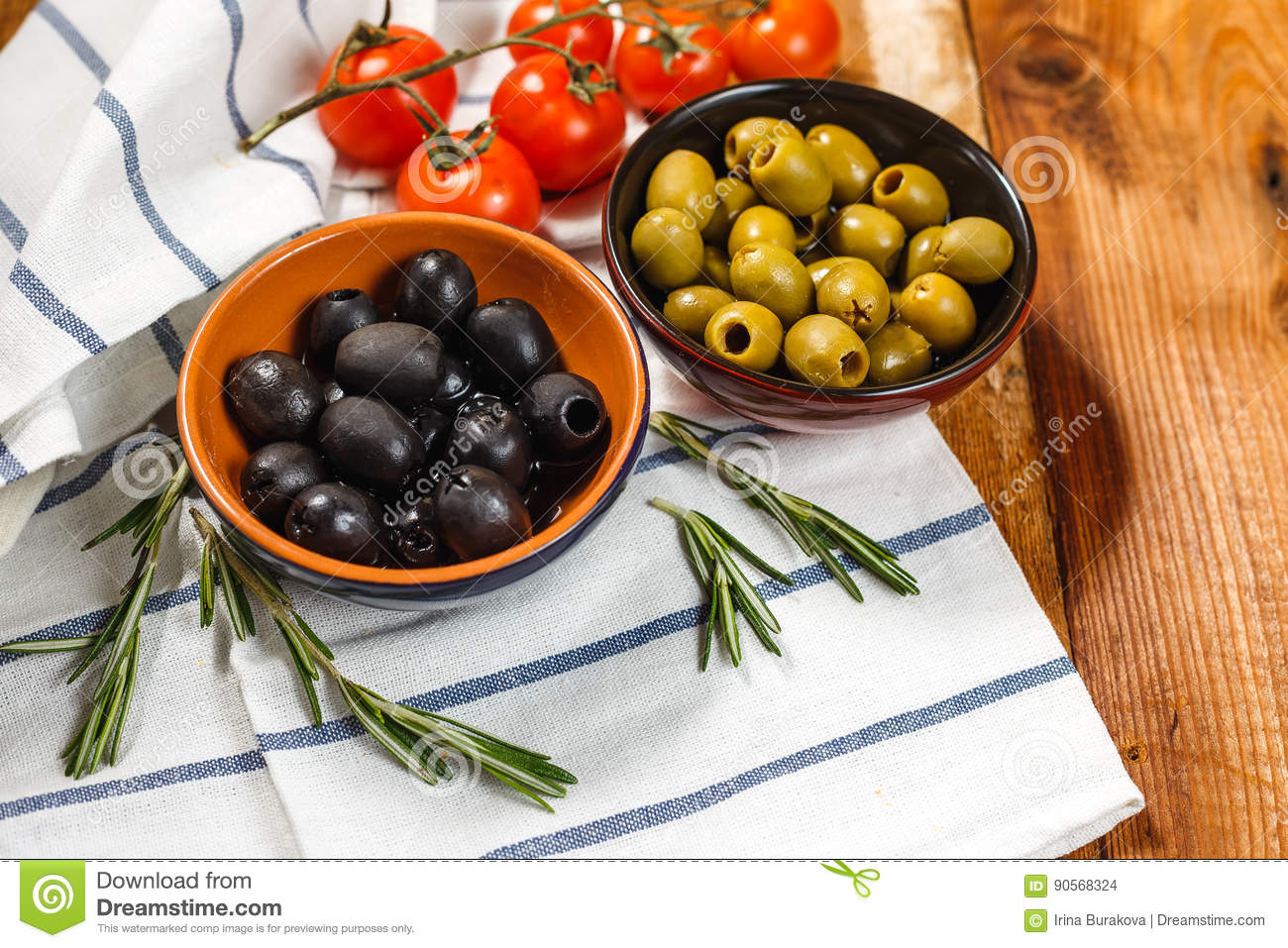 Olive oil with fresh olives