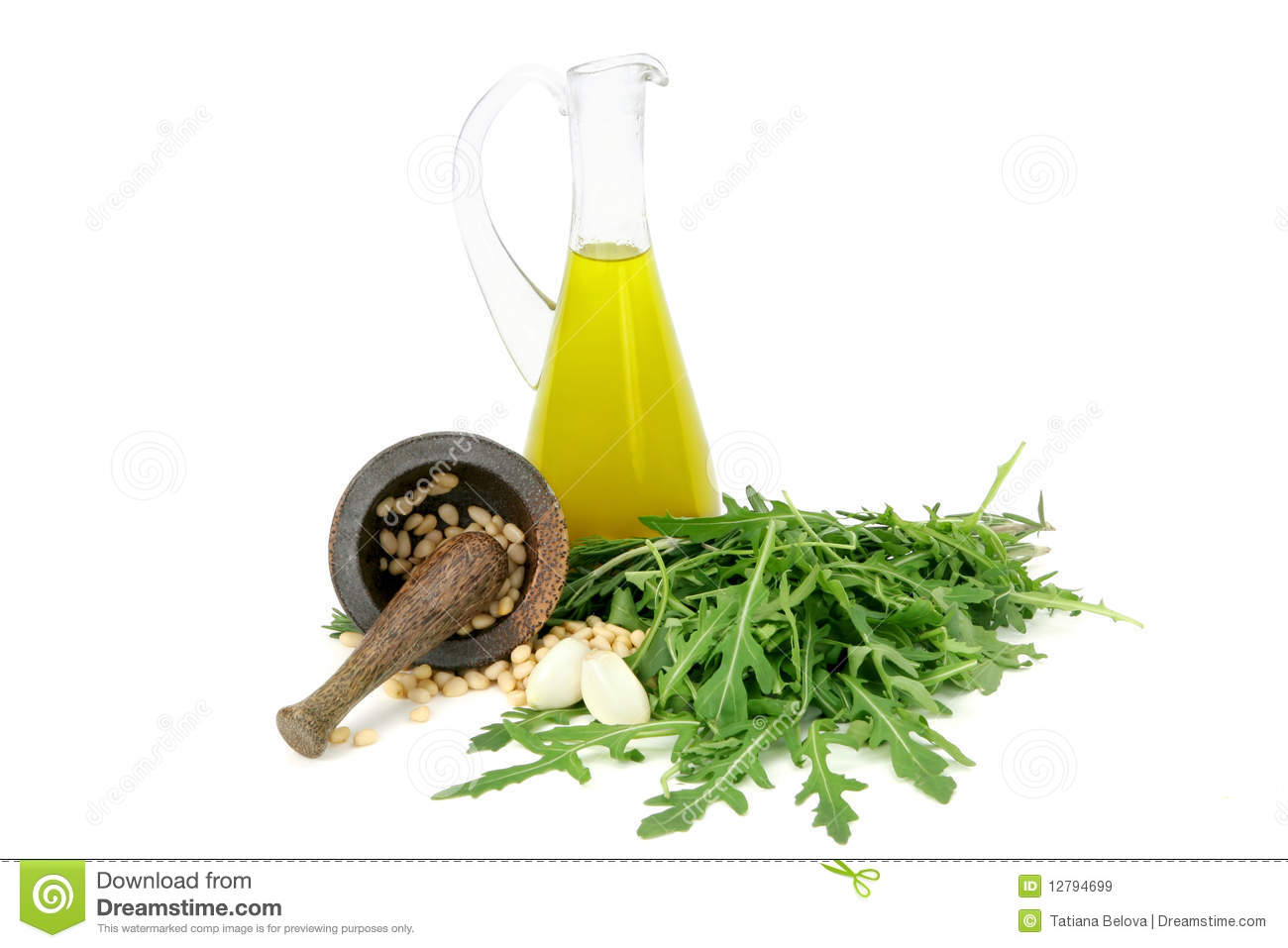 Olive Oil, Garlic,nuts And Herbs Royalty Free Stock Images - Image ...