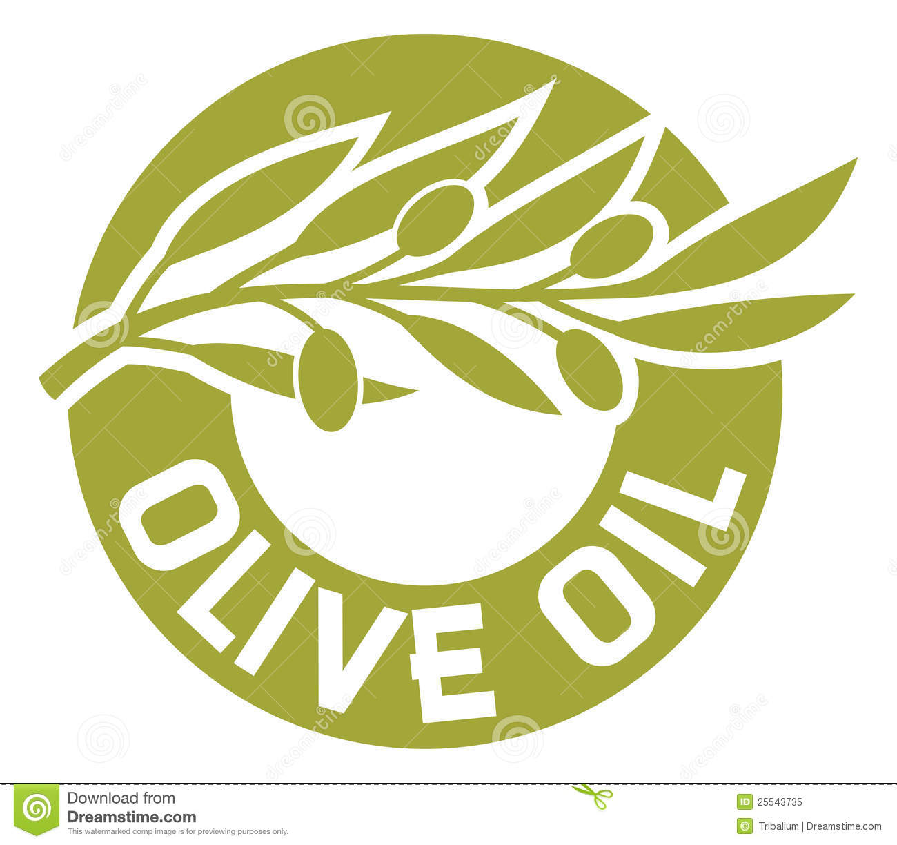 Olive Oil Label Royalty Free Stock Photo - Image: 25543735