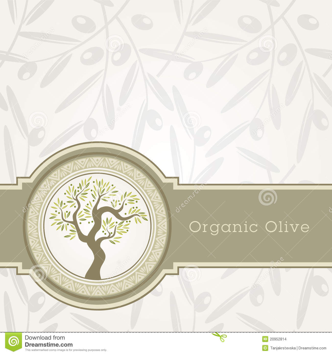 Olive oil label template stock vector. Illustration of element ...
