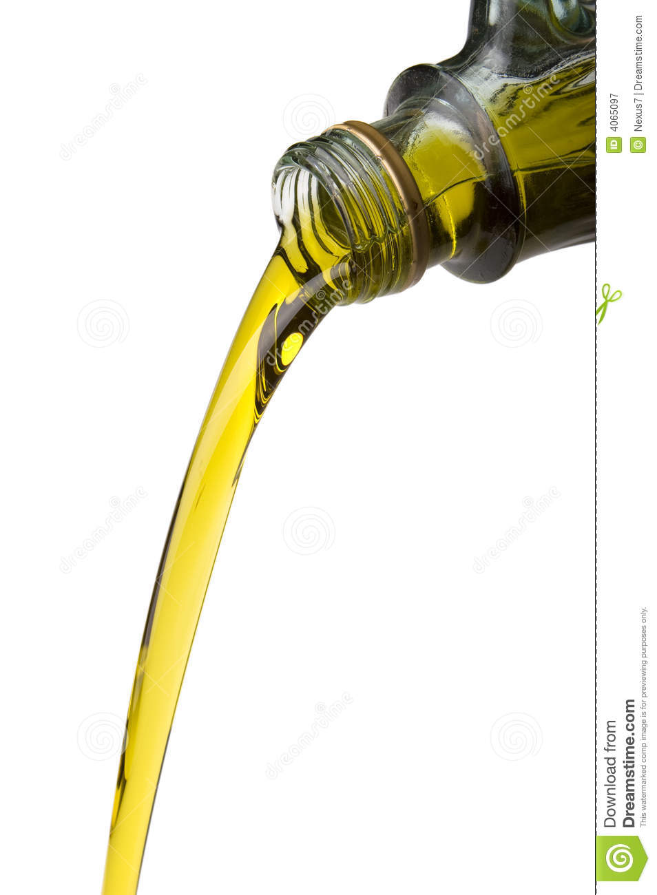 Olive Oil Poured From A Bottle Royalty Free Stock