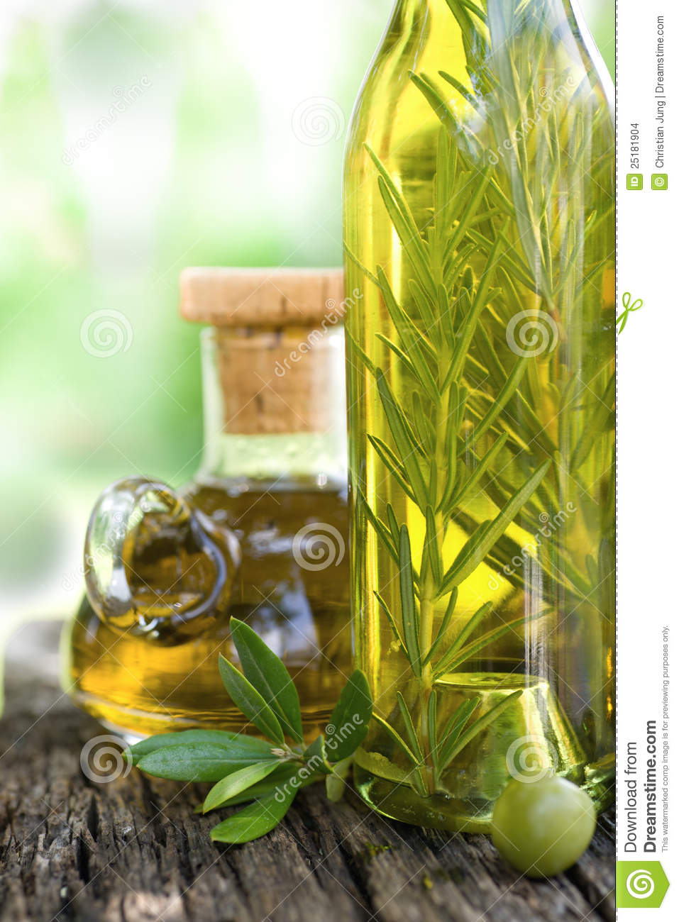 Olive Oil With Rosemary Stock Images Image 25181904