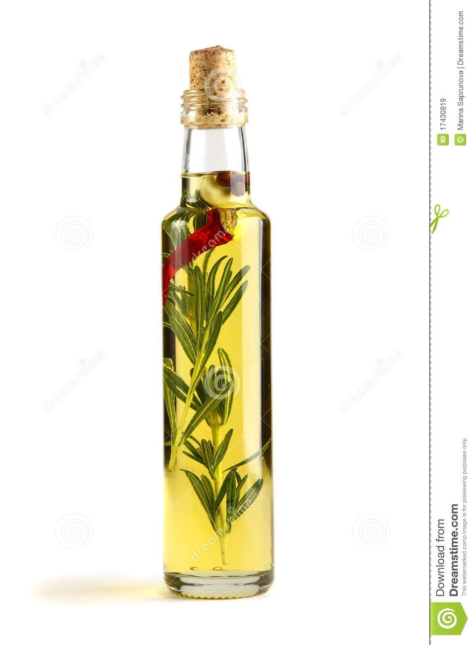 Olive Oil With Rosemary, Garlic And Pepper. Royalty Free Stock Images ...