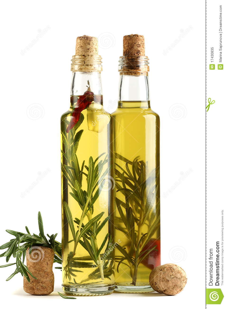 Olive Oil With Rosemary, Garlic And Pepper. Royalty Free Stock Photo ...