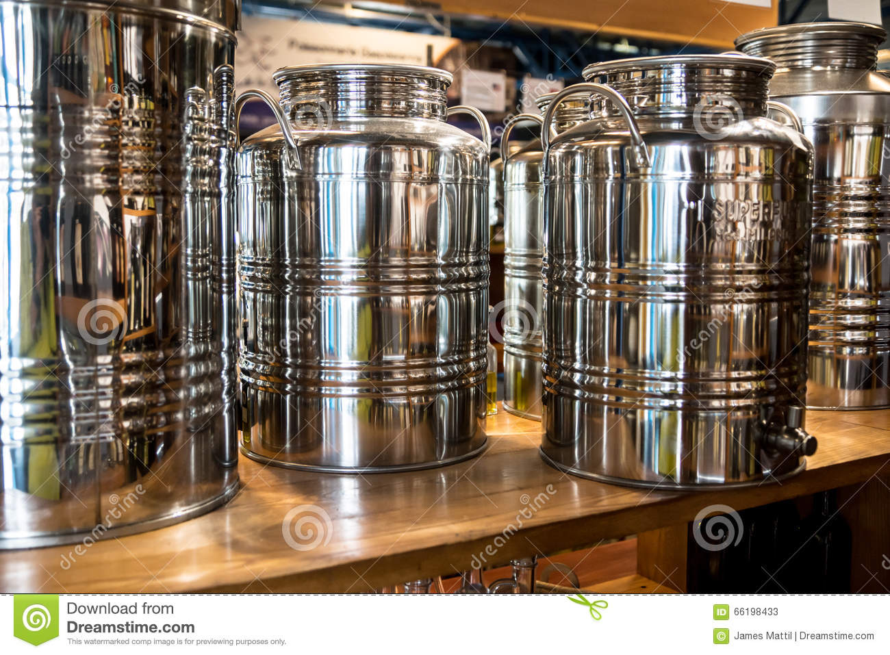 Olive Oil Tanks stock image Image of handles containers 66198433