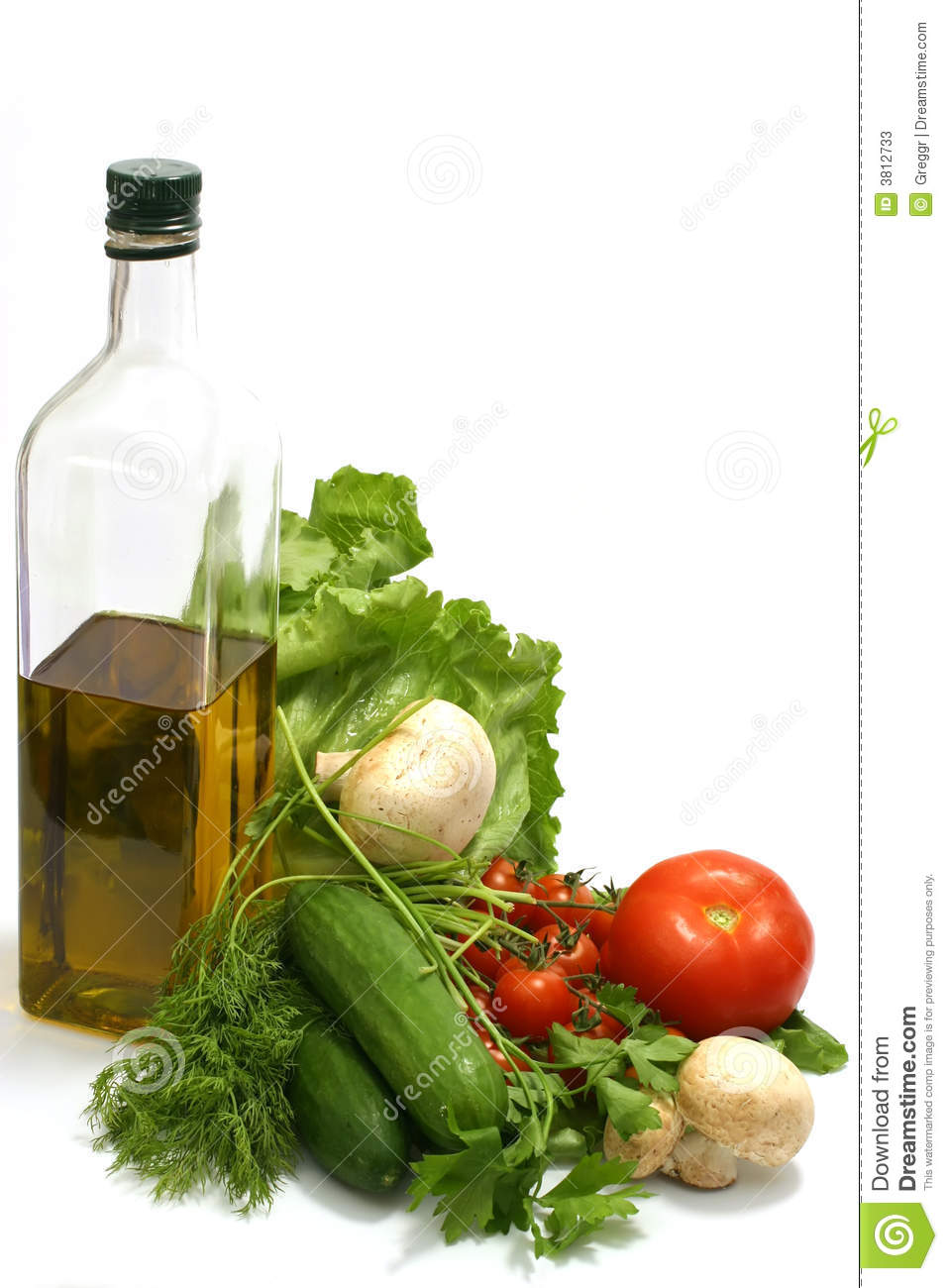 Download Olive oil with vegetables stock image. Image of healthy - 3812733