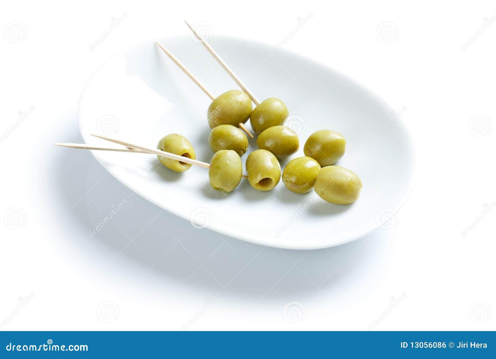 Olive verdi e toothpick