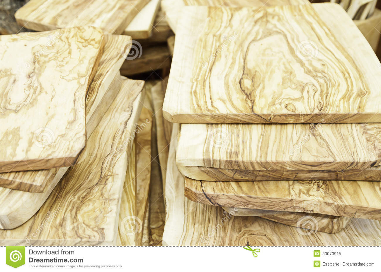 Olive Wood Tables Stock Image Image Of Furniture Closeup