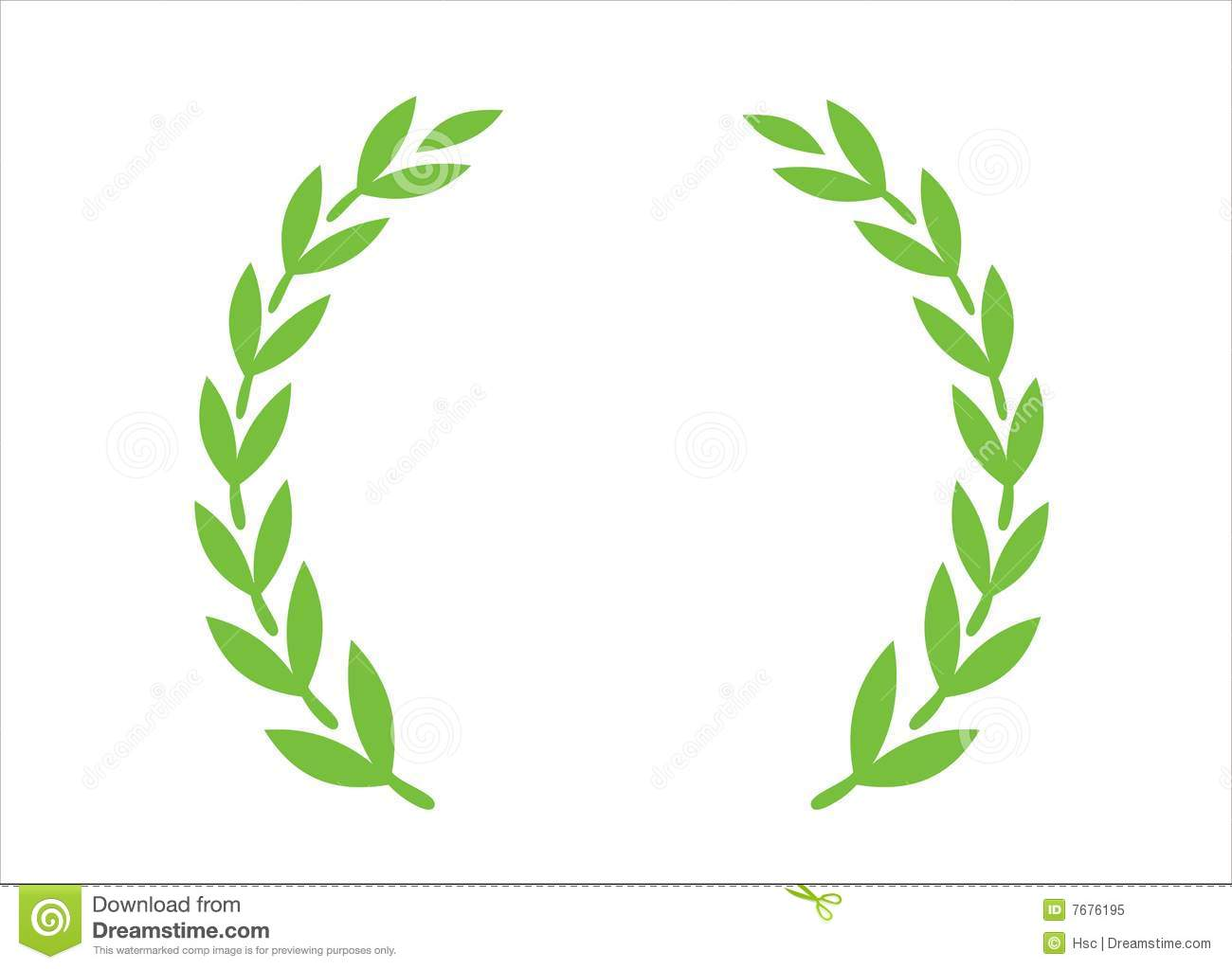 Olive wreath royalty free stock photo image 7676195