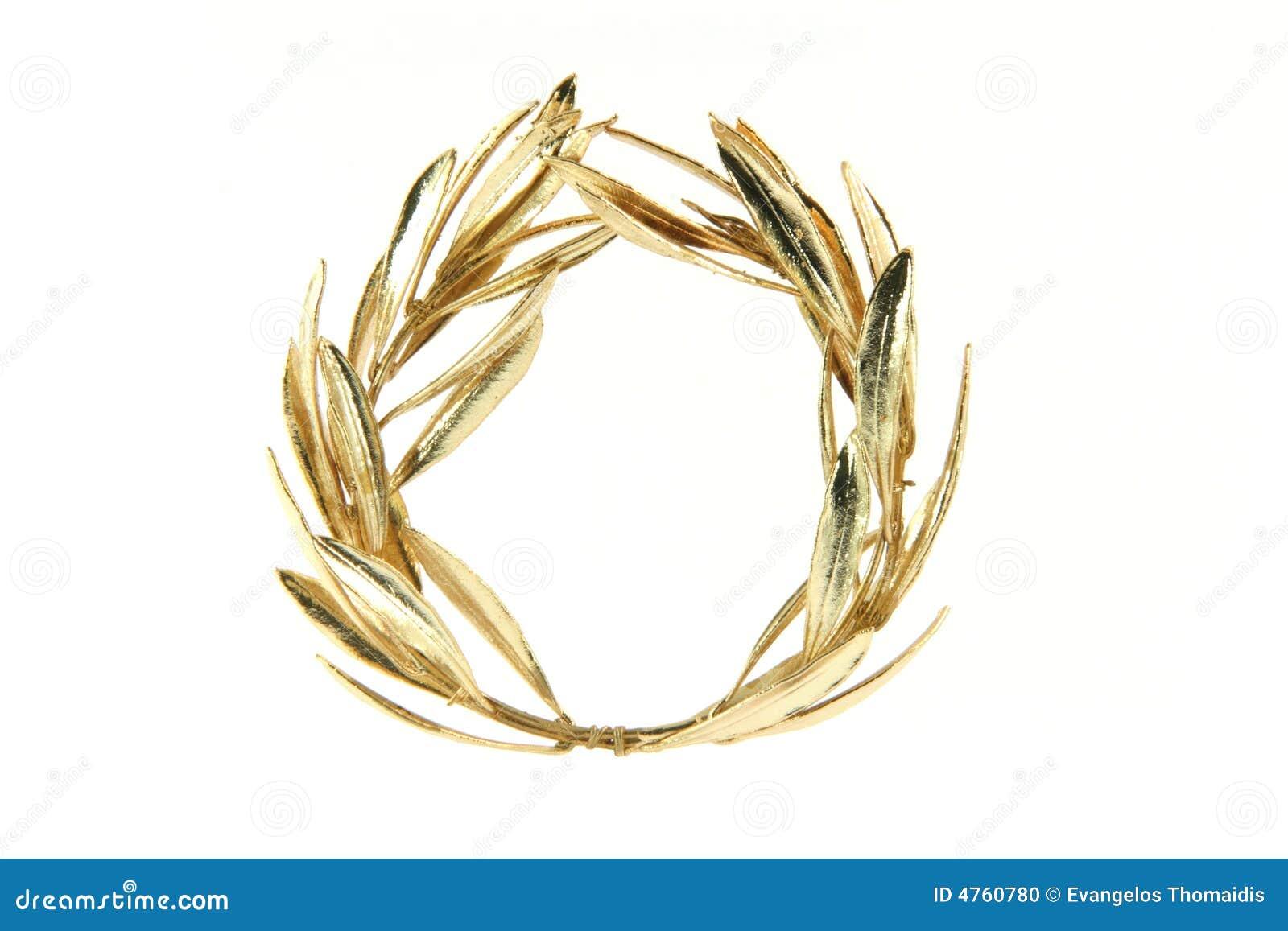 Olive złoty naszyjnik