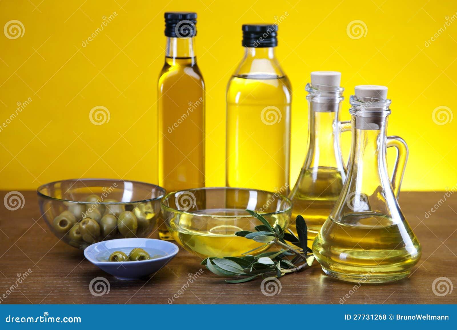 Olivenöl, Olivenbaum und Oliven