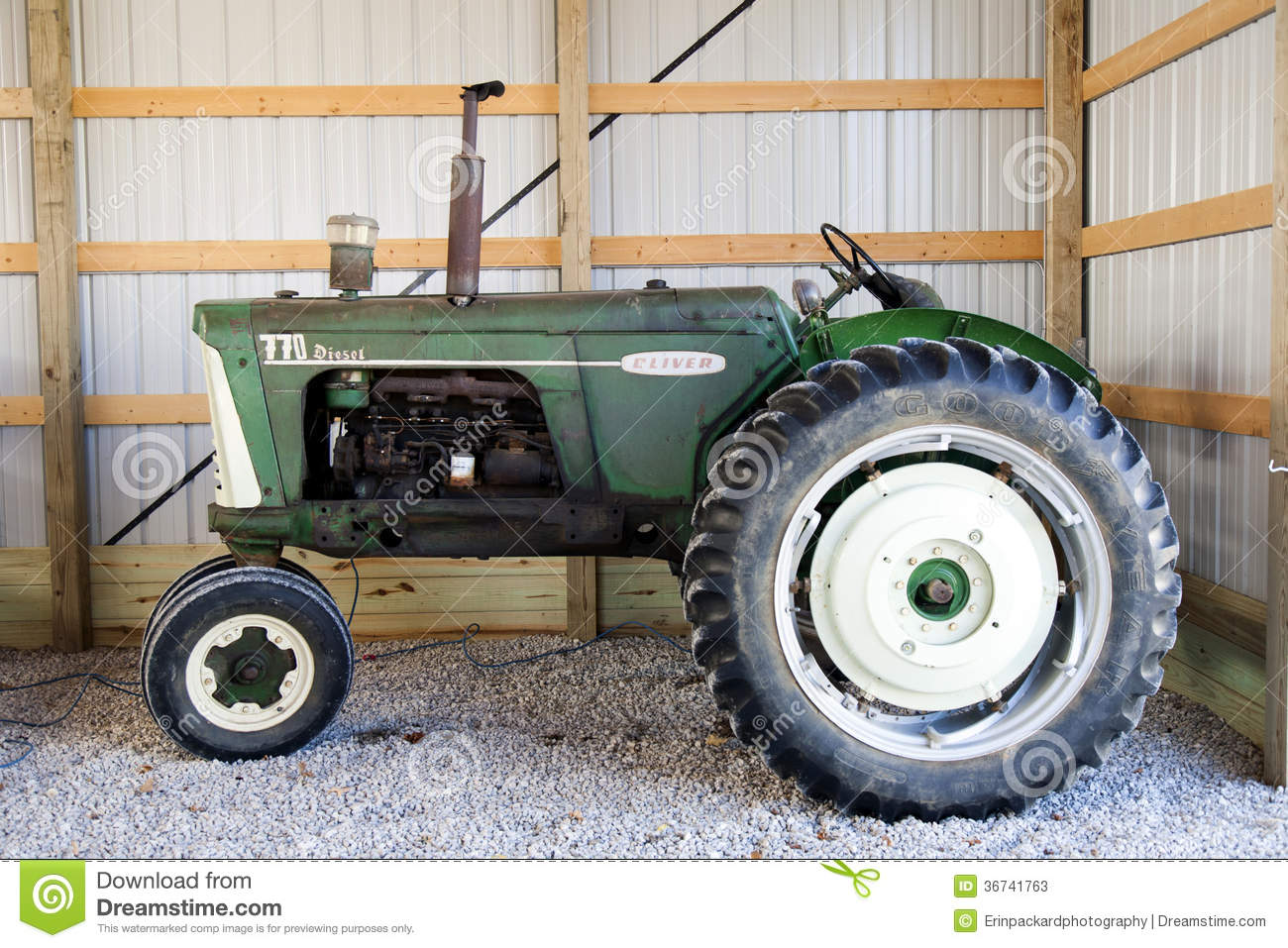 Antique Tractors In Ohio : Oliver diesel tractor editorial stock photo image