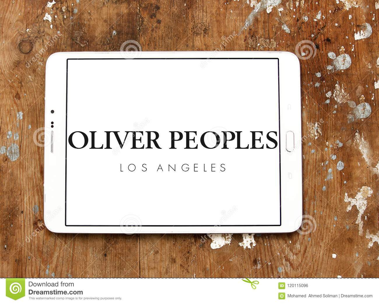 2f6ac159abea Logo of Oliver Peoples eyewear on samsung tablet. Oliver Peoples is an  American luxury eyewear brand