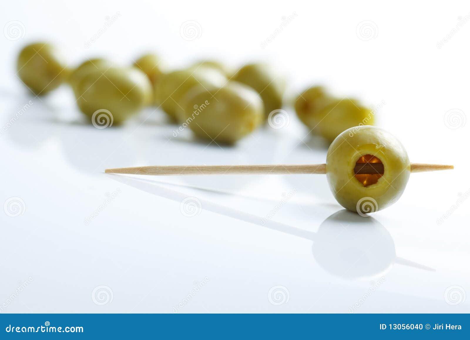 Olives vertes et toothpick