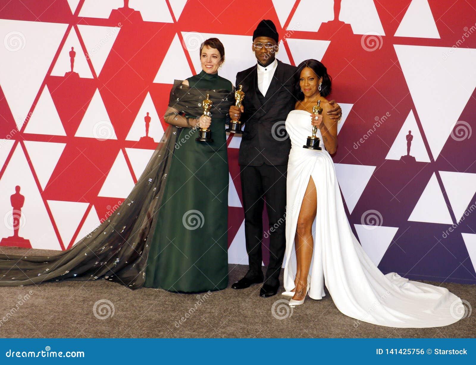 Olivia Colman, Regina King et Mahershala Ali