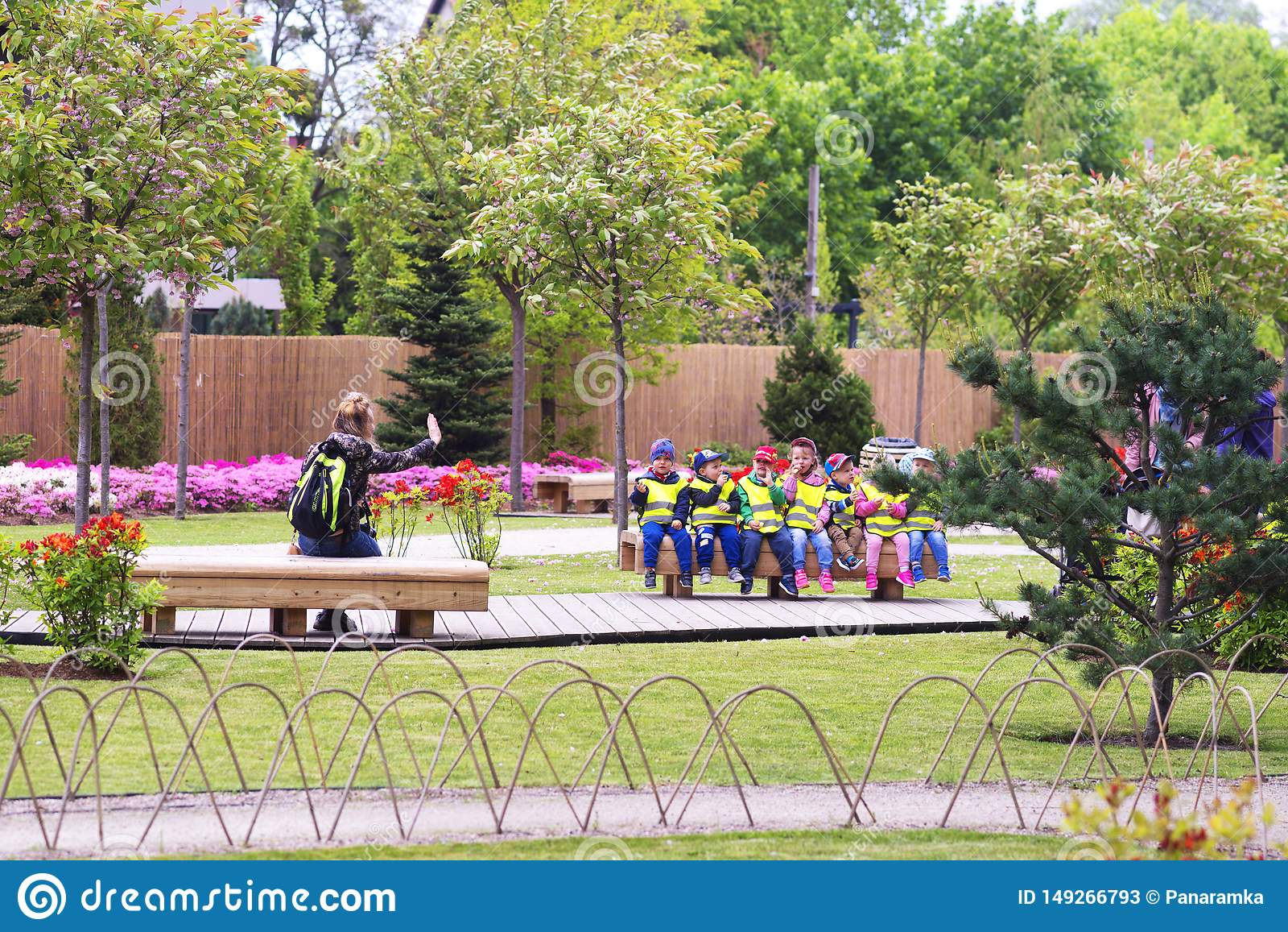 Oliwa In Gdansk Children Kindergarten Editorial Stock Photo