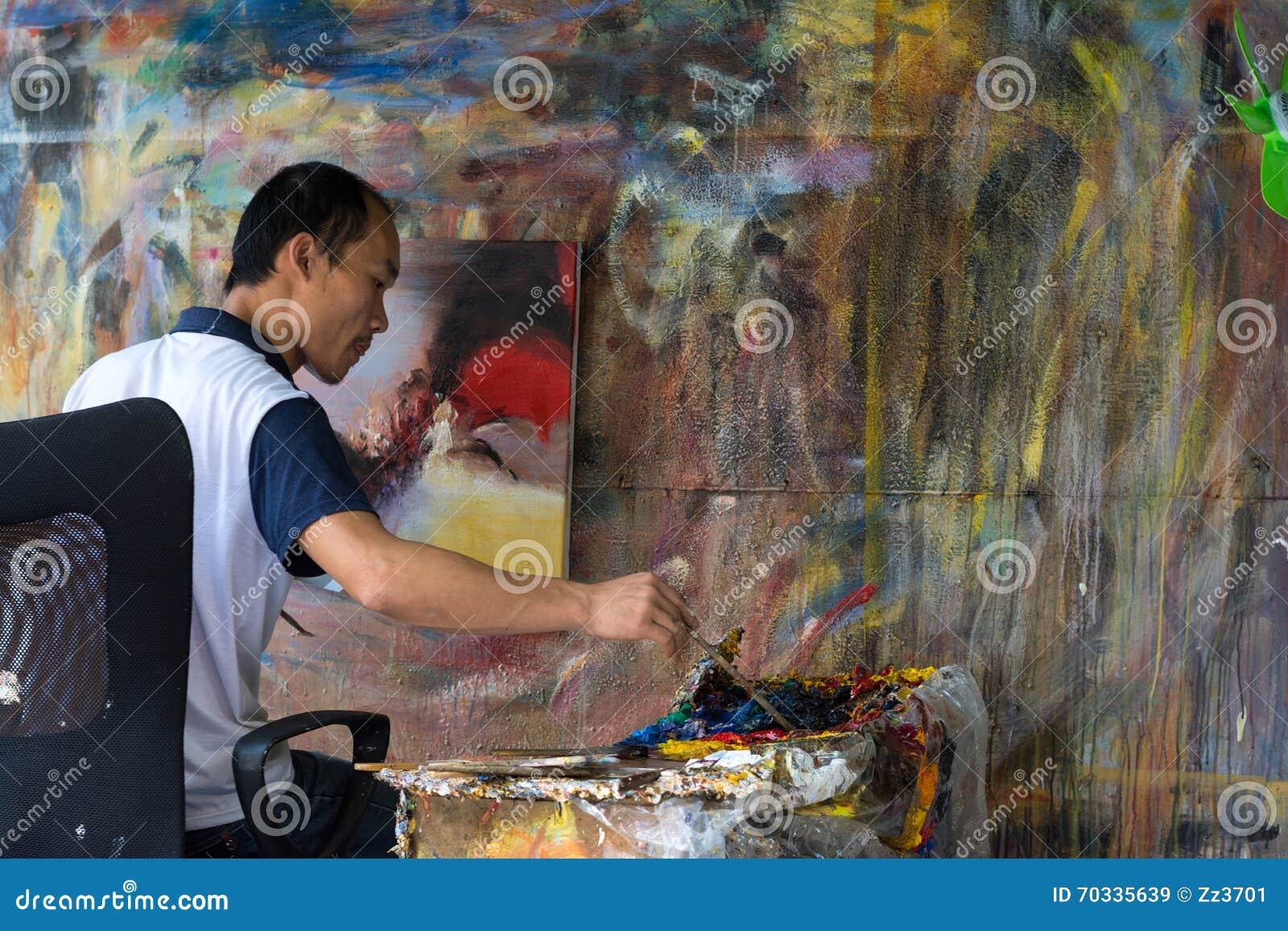Olje- målare Working