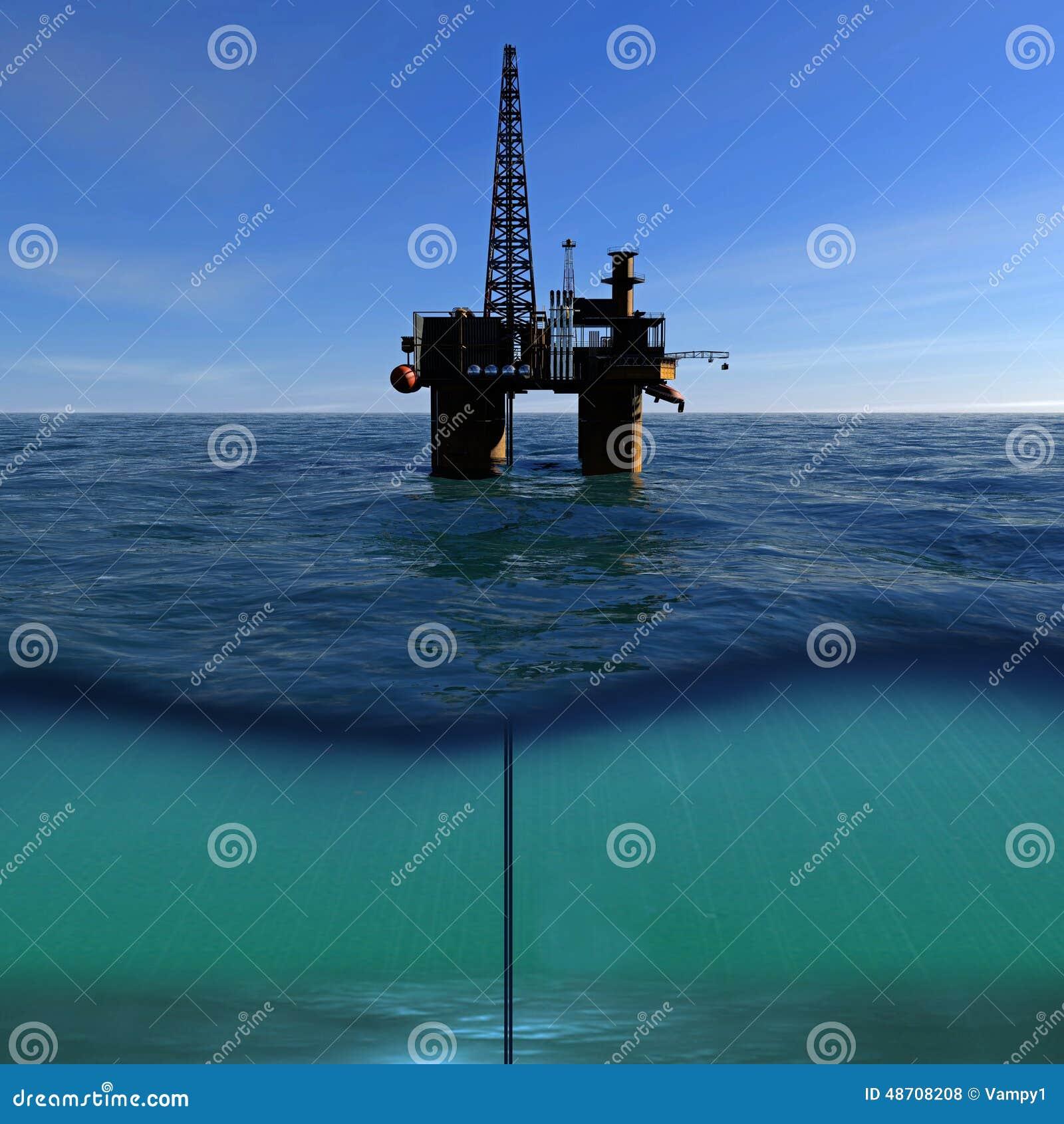 Olje- plattform på havet