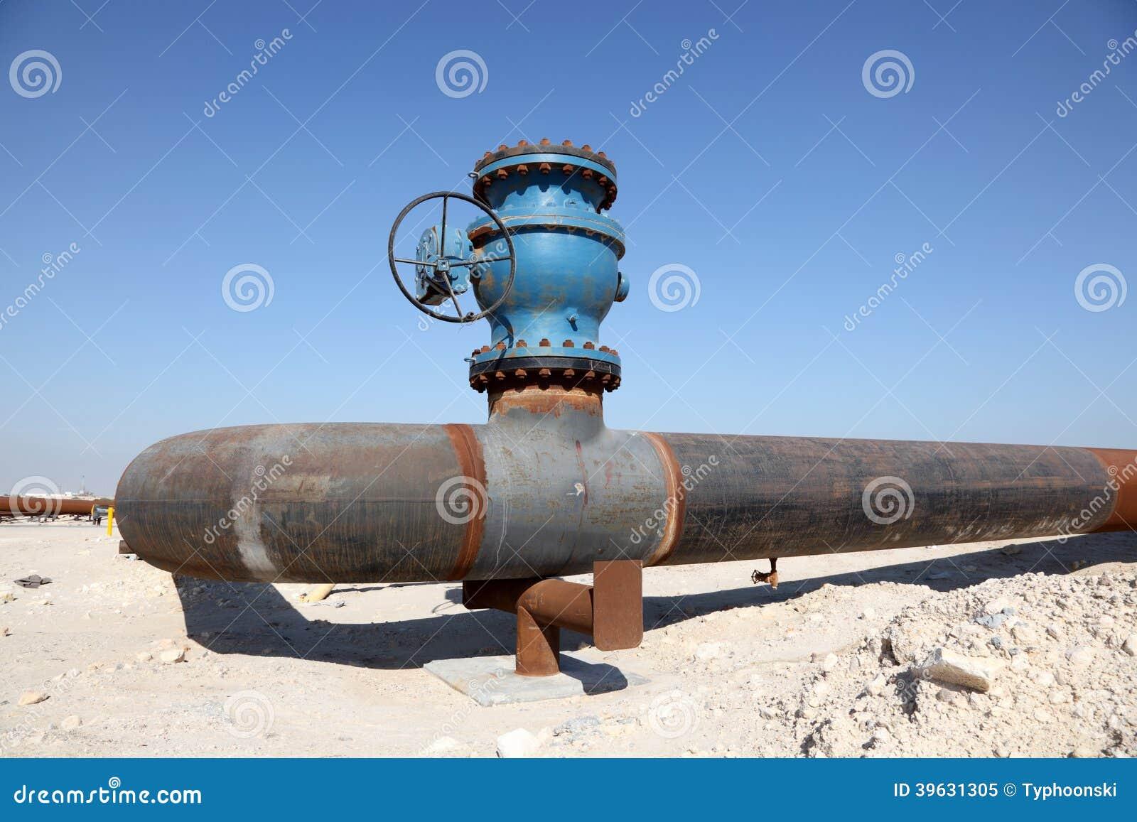Olje- rörledning i öknen