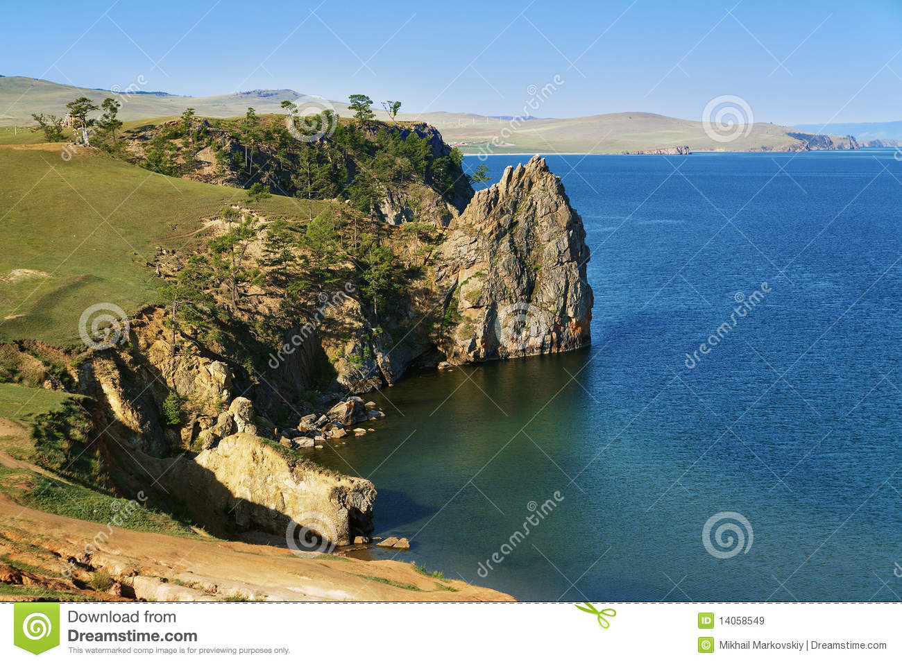 ... Island On Baikal Lake Royalty Free Stock Images - Image: 14058549