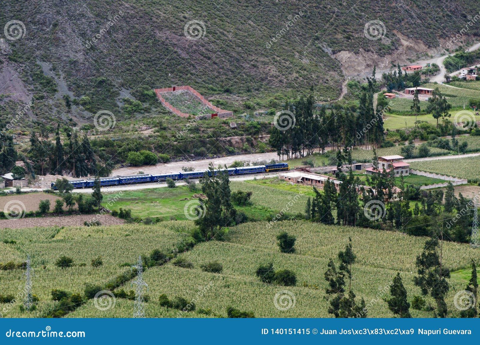 Ollantaytambo, Peru Inca Fortress-Ruinen auf dem Temple Hill