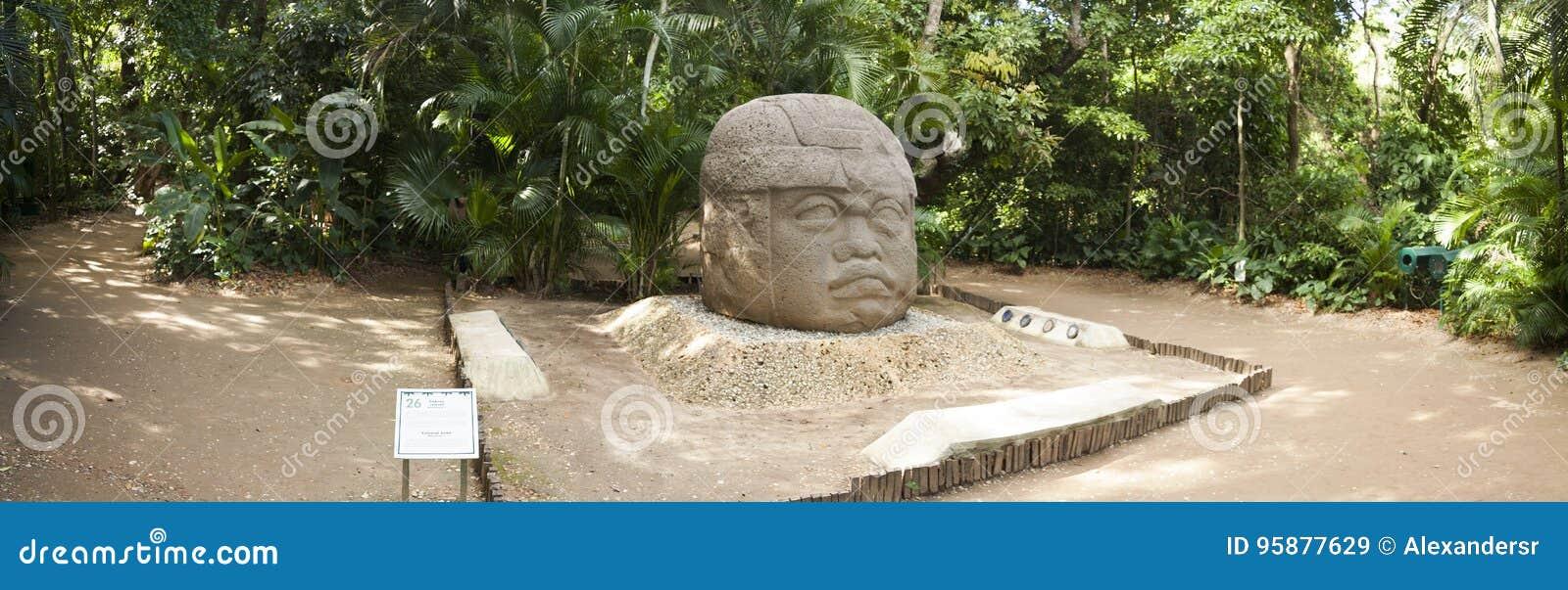 Olmec en Mexico för kulturLaVenta Villahermosa tabasco arkeologi