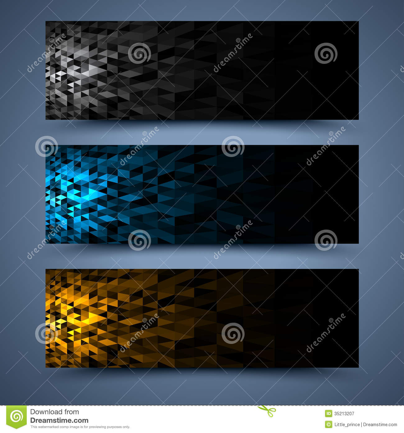 Color Banners Templates. Abstract Backgrounds Stock Photography ...