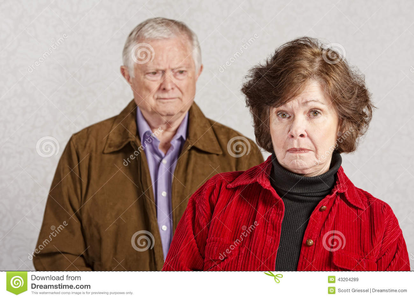 Download Olyckliga par fotografering för bildbyråer. Bild av spouse - 43204289
